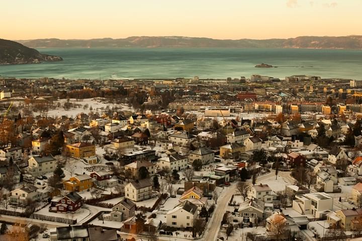 Trondheim, Norwegia widok z góry