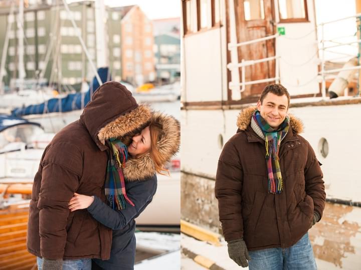 sesja narzeczeńska zima portret