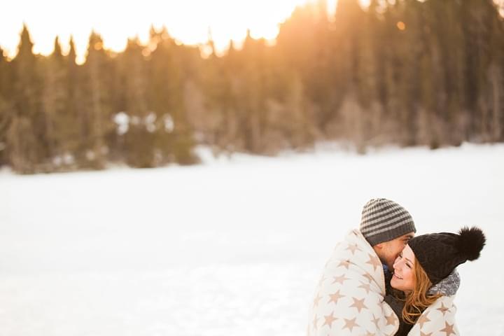 fotografia zima sesja narzeczeńska