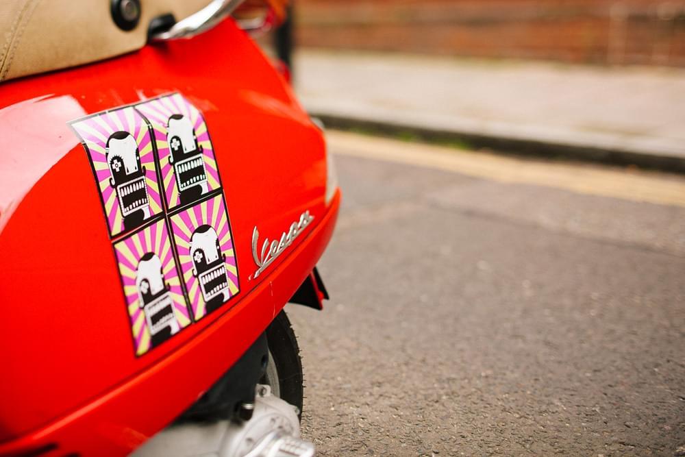 vespa czerwony motocykl zdjecie