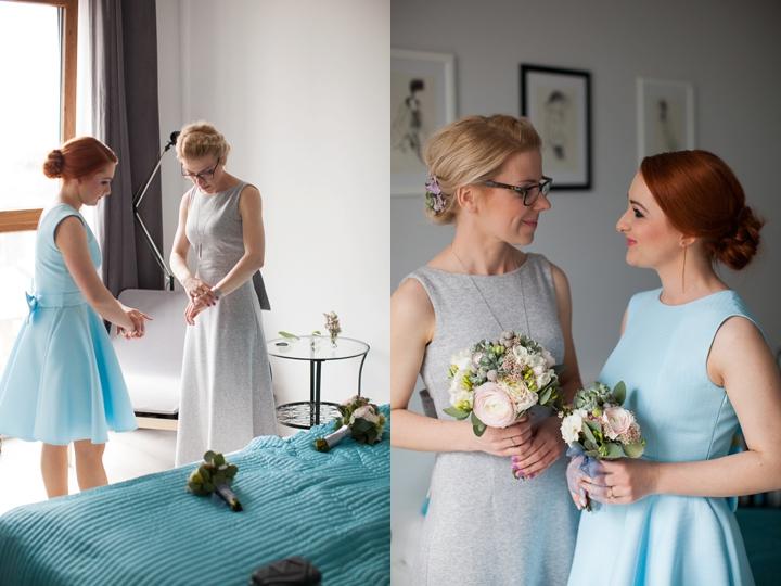 szara dresowa suknia ślubna panna młoda zdjęcie
