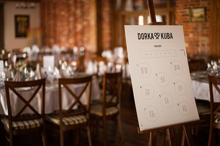 tablica usadzenia gości na weselu zdjęcie