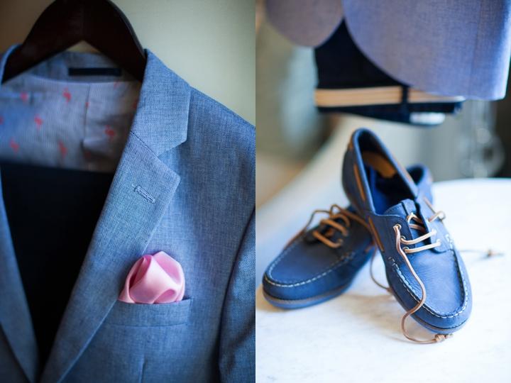 niebieski garnitur buty ślub zdjęcie