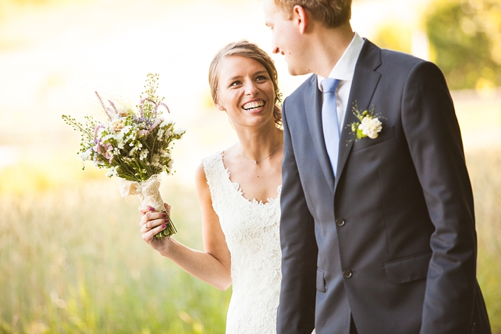 sesja pary młodej w dniu ślubu