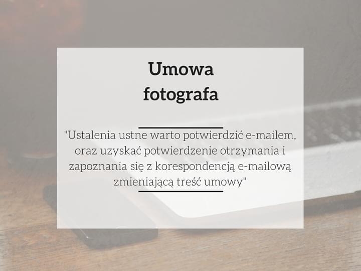fotograf umowa na zdjecia