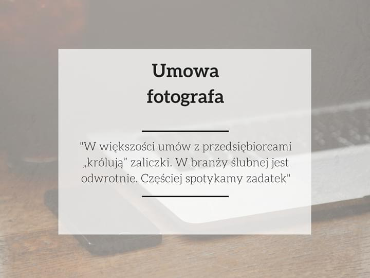 fotograf umowa zadatek