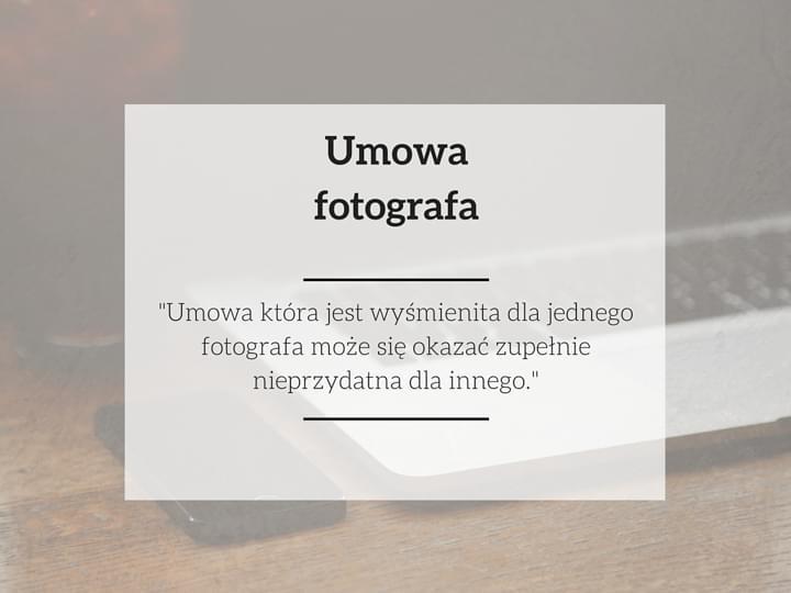 umowa fotografa