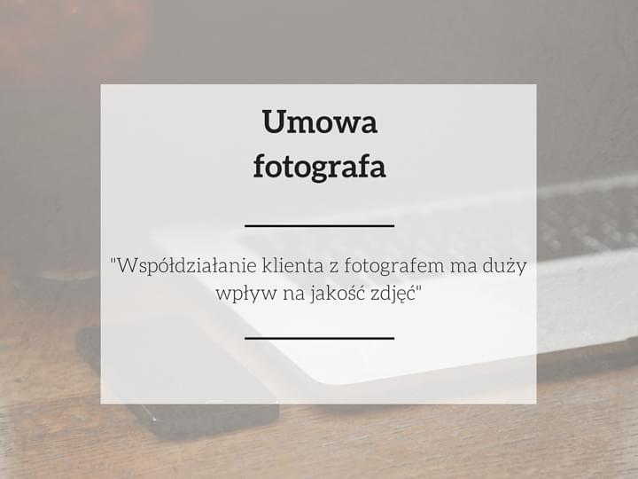 umowa fotograficzna