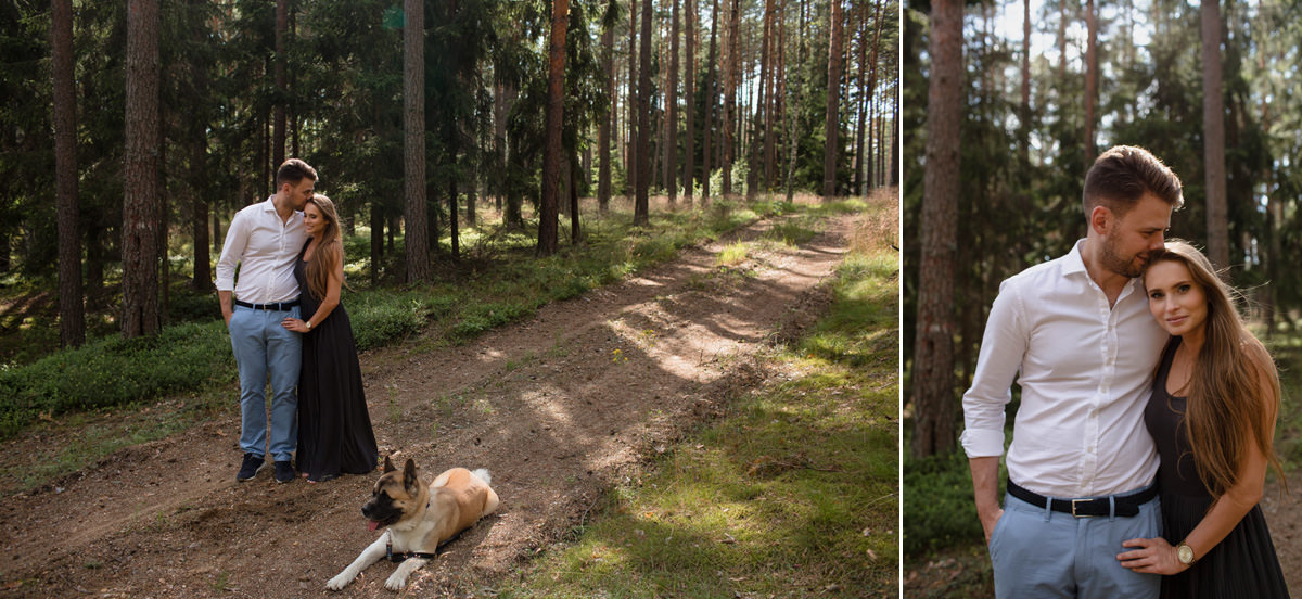 jaceksiwko fotografie z sesji narezczenskiej w mazurskim lesie