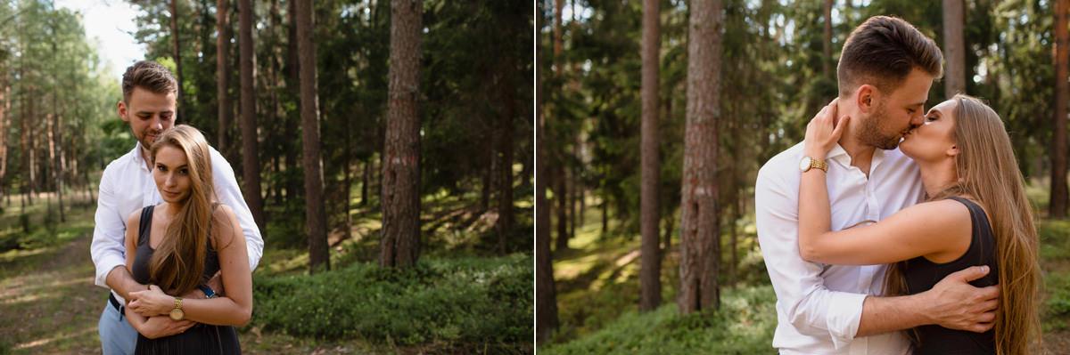 sesja w lesie okolice szczytna siwko